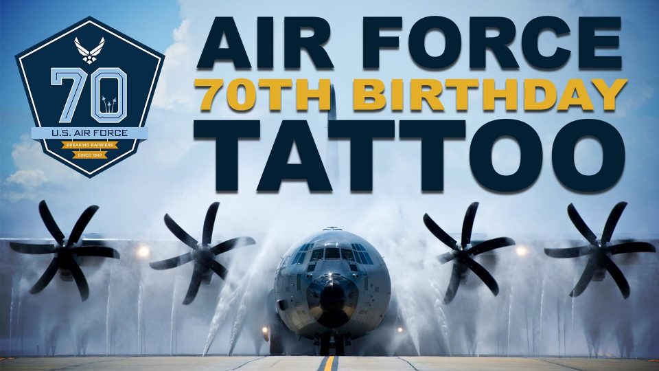 Air Force 70th Birthday Tattoo