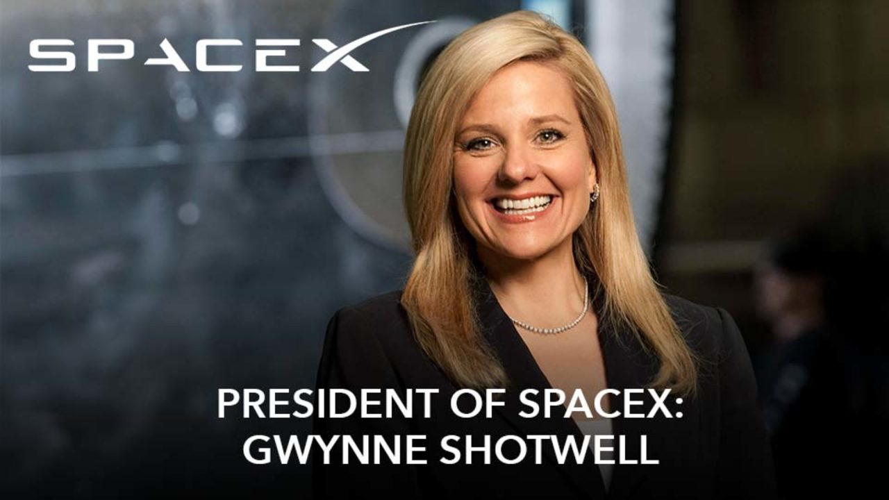 President of SpaceX: Gwynne Shotwell