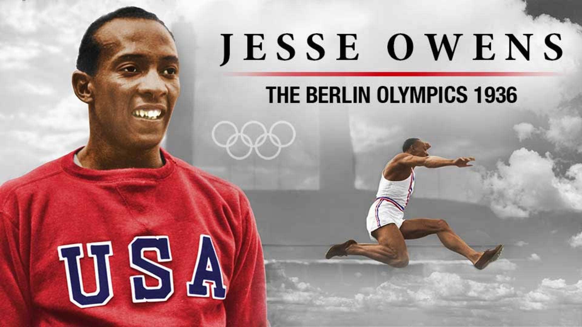 Jesse Owens at the Berlin Olympics in 1936 -