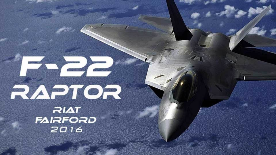 Lockheed F-22 Raptor Demo at RIAT RAF Fairford 2016