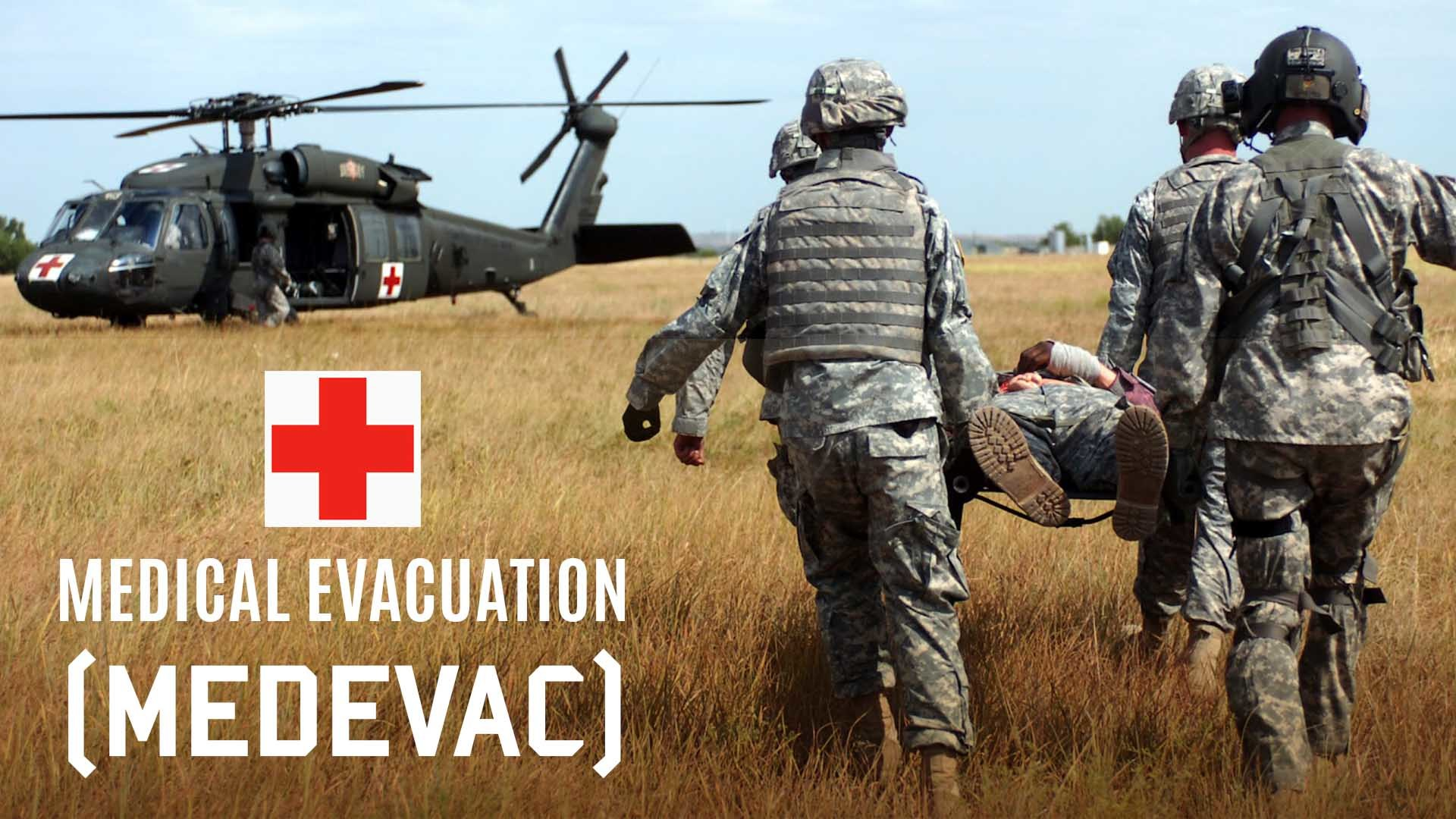 medevac evacuation Air medical services is a comprehensive term covering the  military organizations and nato refer to the former as medical evacuation (medevac) and to the latter .