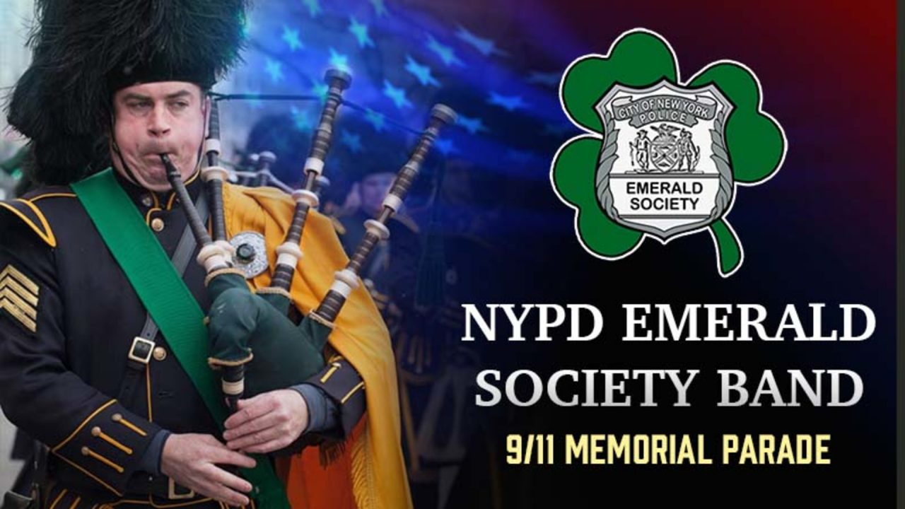 NYPD Emerald Society Band 9/11 Memorial Parade