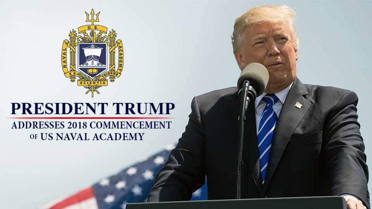 President Trump Addresses 2018 Commencement Of US Naval Academy