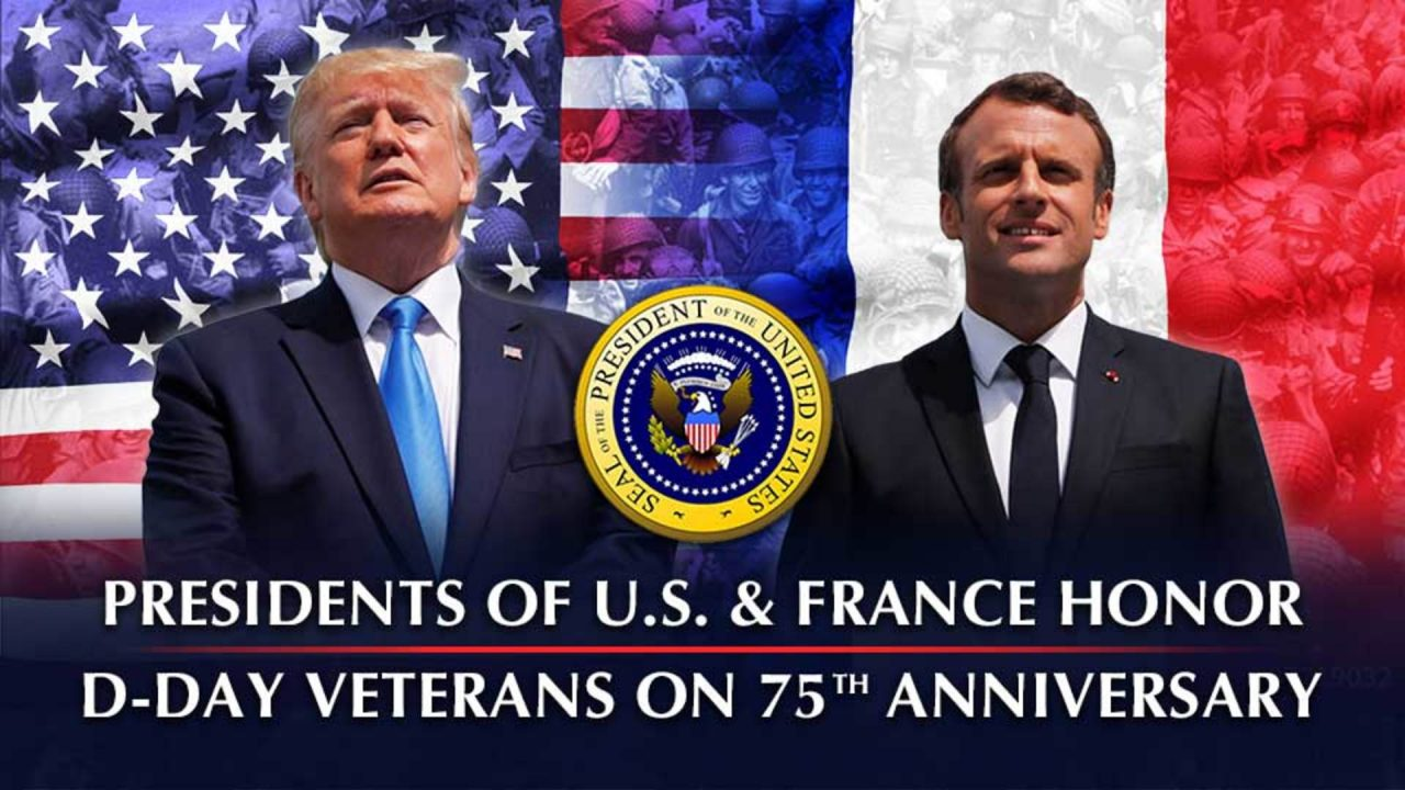 Presidents of US and France Honor D-Day Veterans on 75th Anniversary