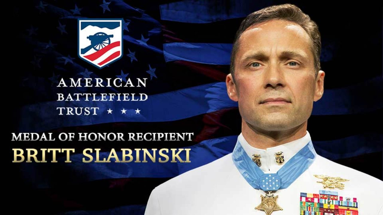 Stand on the Slaughter Pen Farm with Medal of Honor Recipient Britt Slabinski