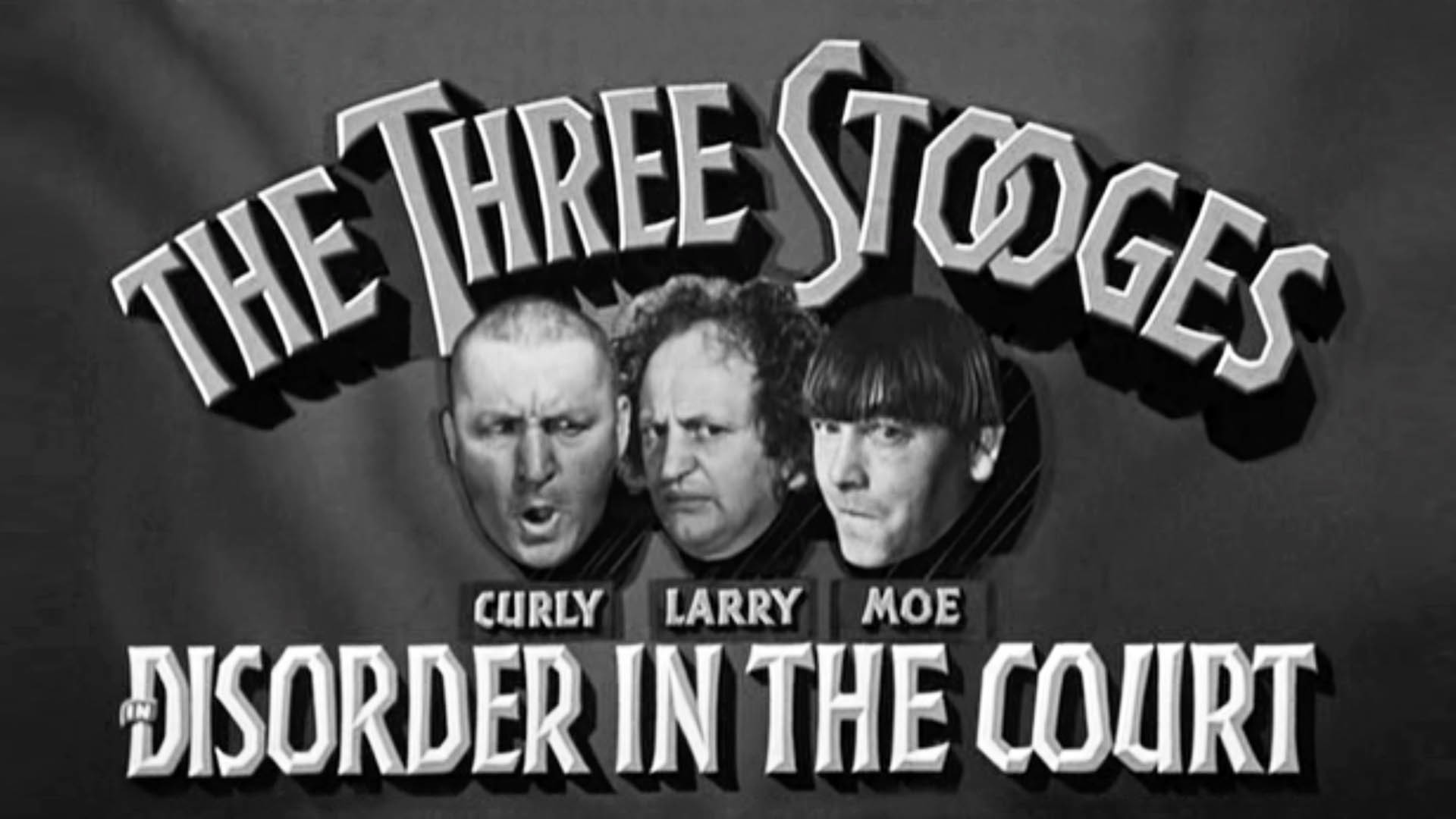 the three stooges disorder in the court valorous tv