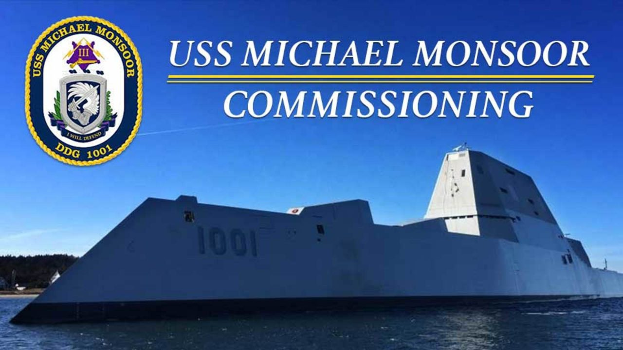 USS Michael Monsoor (DDG 1001) Commissioning